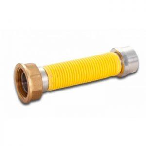 Flessibili / estensibili inox per contatori a gas - F.F. - Rivestito Giallo